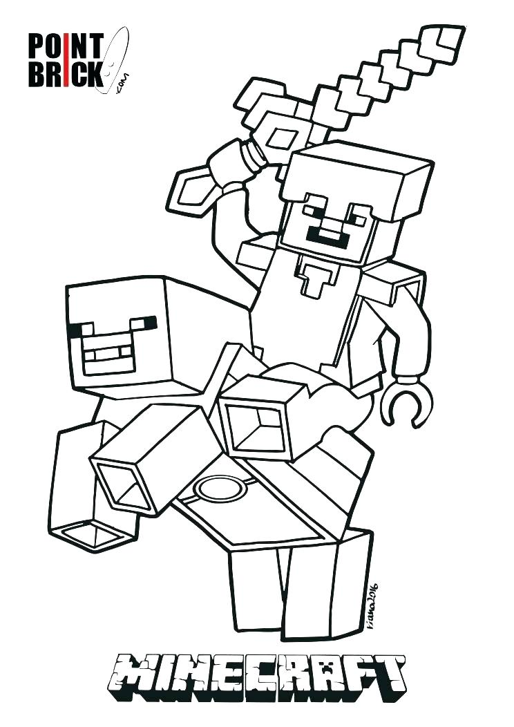 744x1052 Printable Minecraft Coloring Pages Animal Coloring Pages Printable