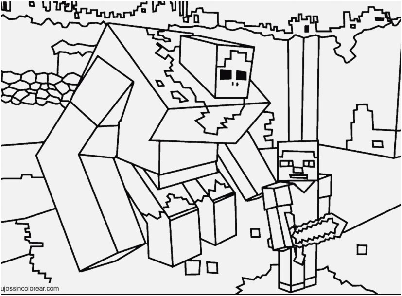 827x609 Printable Minecraft Coloring Pages Capture Minecraft Coloring