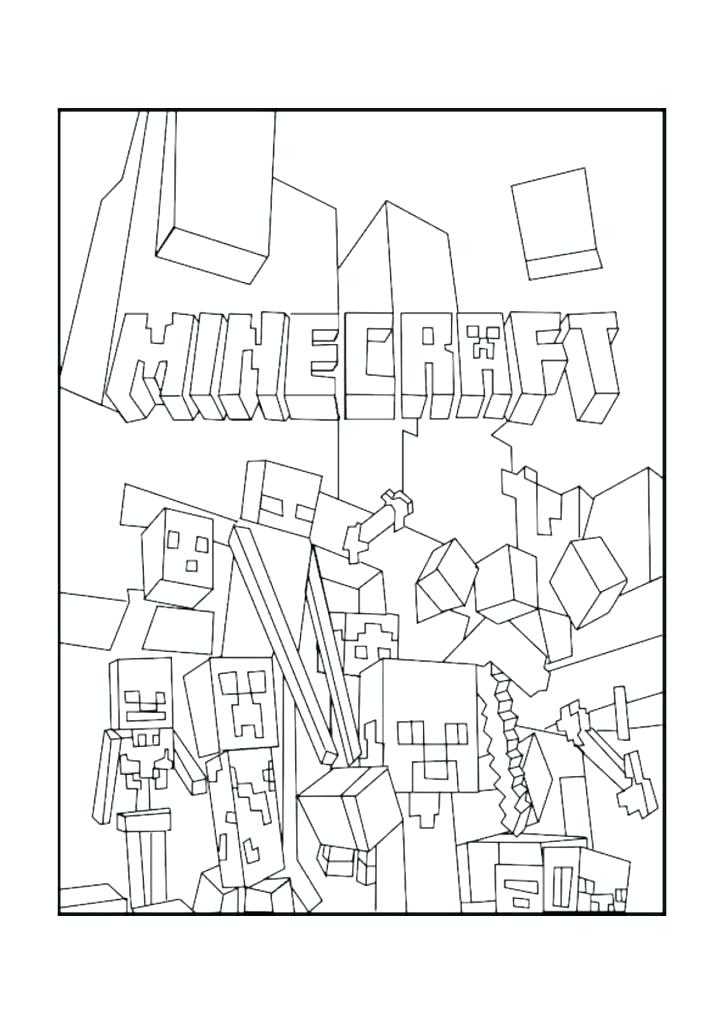 724x1024 Printable Minecraft Coloring Pages Free Coloring Pages Coloring