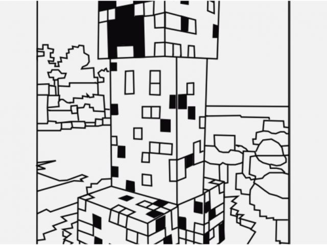 640x480 Printable Minecraft Coloring Pages Picture Best Minecraft Creeper