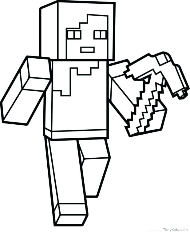 618x755 Coloring Pages For Minecraft Coloring Pages Best Of Mine Craft