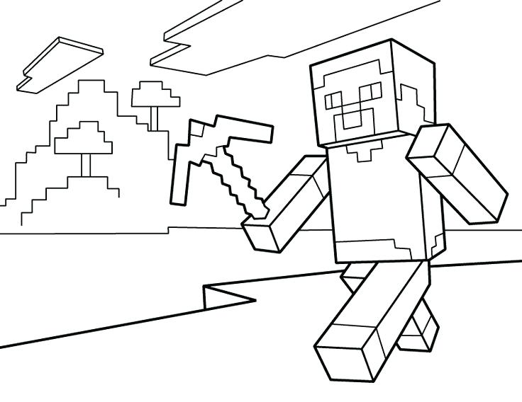 736x568 Logo Coloring Page Coloring Kids Logo Coloring Page Minecraft