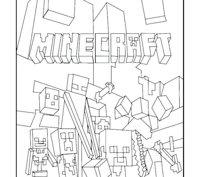678x600 Minecraft Color Page Color Pages Coloring Pages Of Color Pages