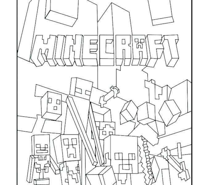 678x600 Minecraft Color Pages Coloring Pages Of Color Pages Best Mobs
