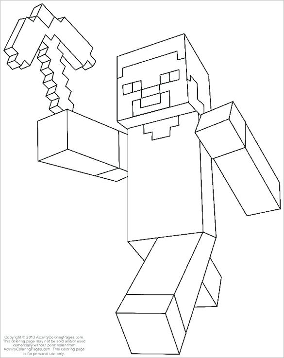 585x737 As Well As Coloring Pages Free Printable Word Minecraft Coloring