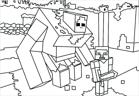 585x405 Minecraft Coloring Page Free Printable Coloring Pages Coloring