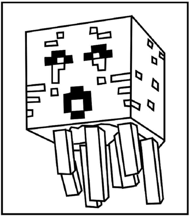 650x736 Minecraft Enderman Coloring Pages Coloring Pages