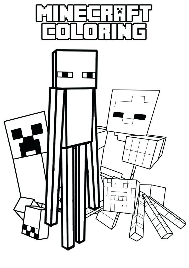 723x1024 Coloring Pages Minecraft