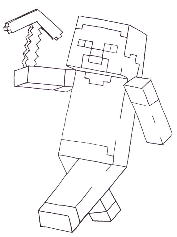 573x768 Free Minecraft Coloring Pages