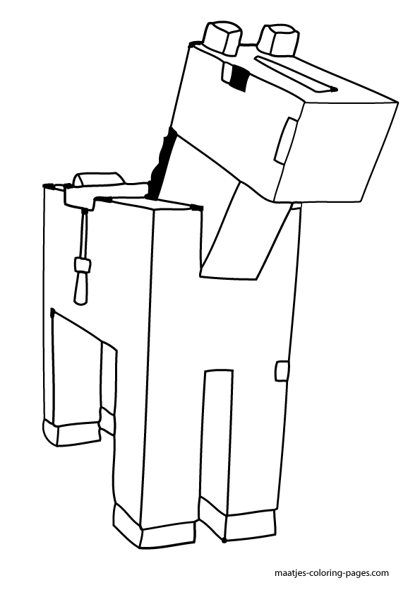 Minecraft Dog Coloring Pages