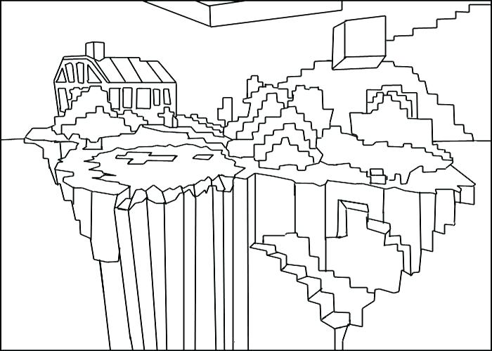 Enderman is Building a House coloring page   Free Printable ...   499x700