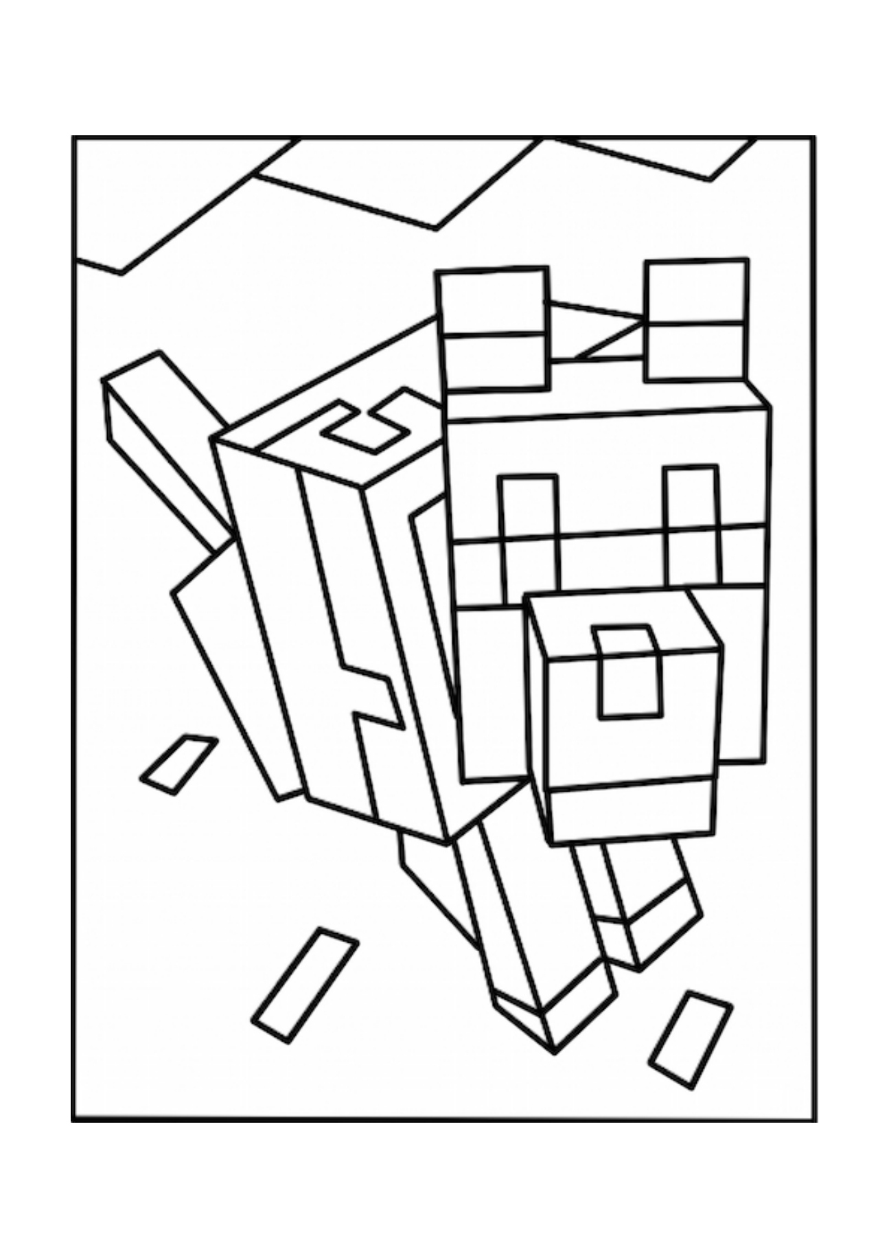 Minecraft Ghast Coloring Pages