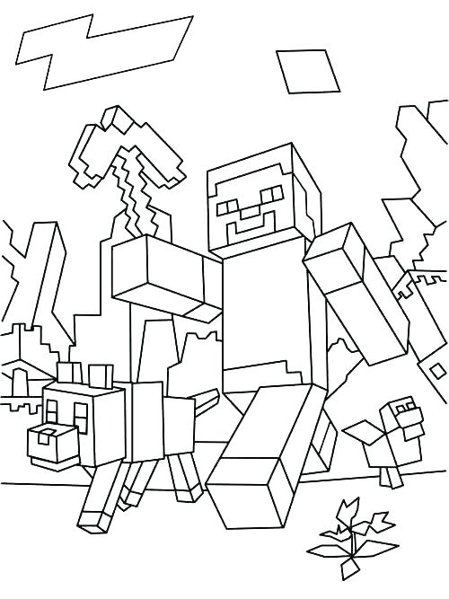 500x667 Minecraft Girl Skins Coloring Pages Color Page Free For Girls