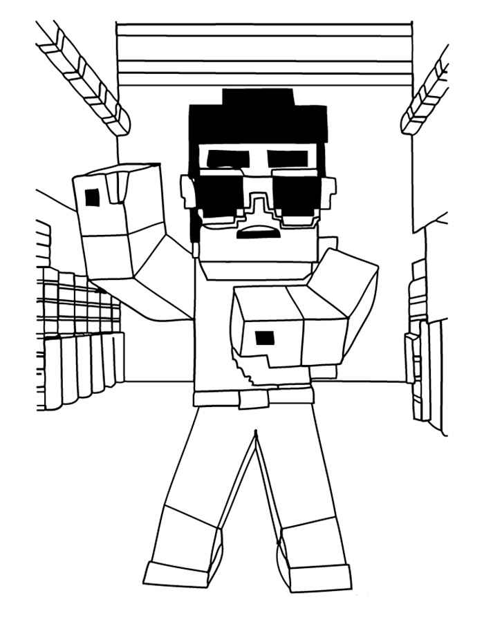 700x900 Minecraft Coloring Pages