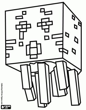 280x356 Free Coloring Pages For Girls Minecraft Cutouts Enderman Plush