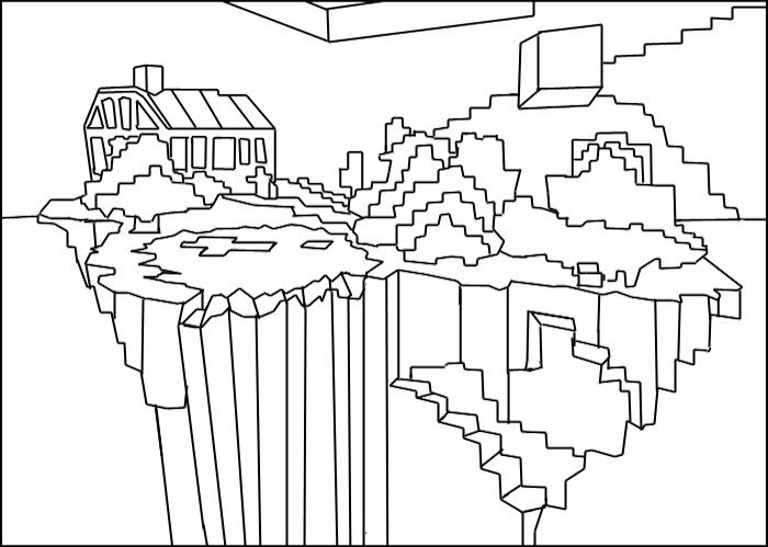 Minecraft House Coloring Pages At Getdrawings Free Download