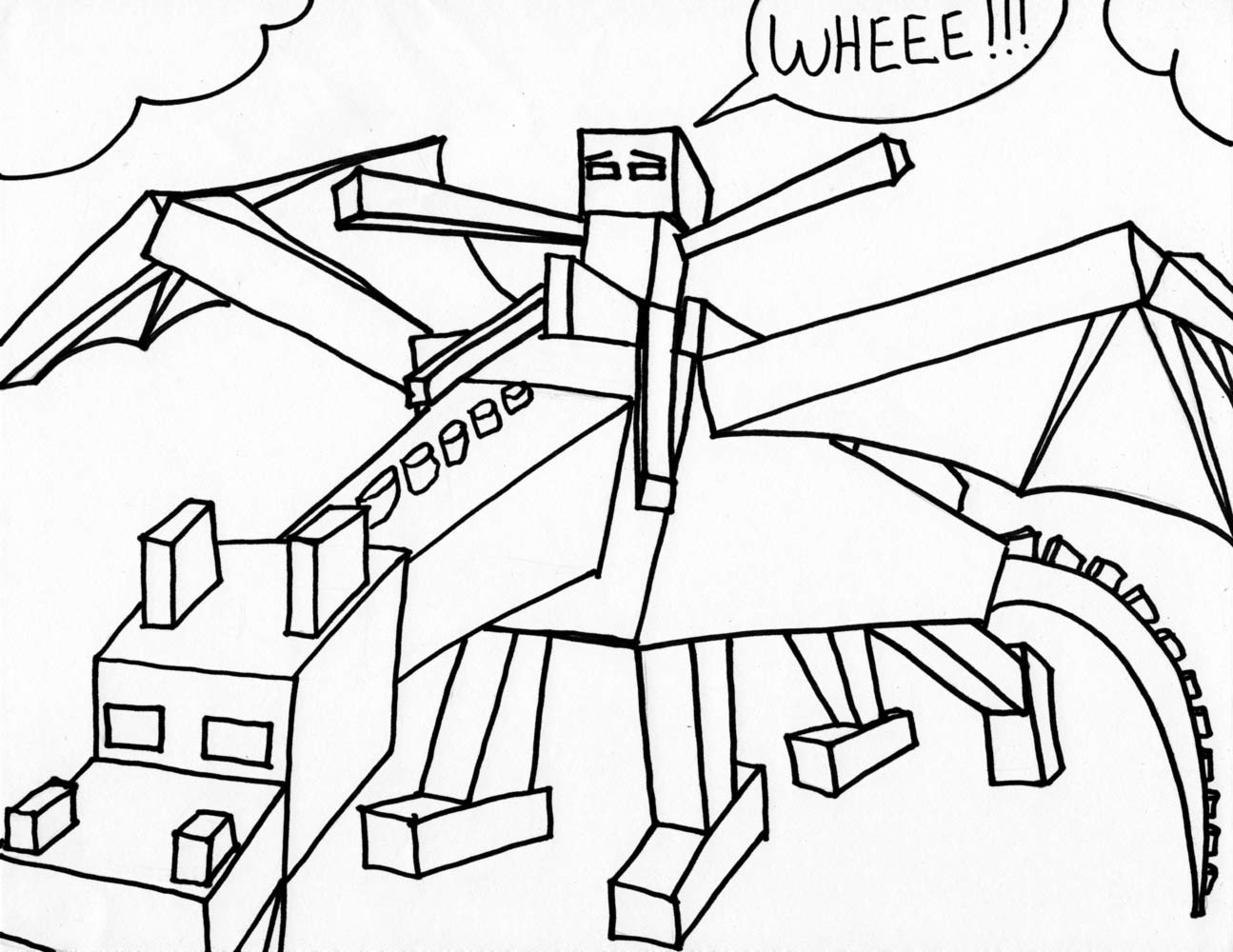 1295x1000 Refundable Minecraft Mutant Zombie Coloring Pages Bltidm