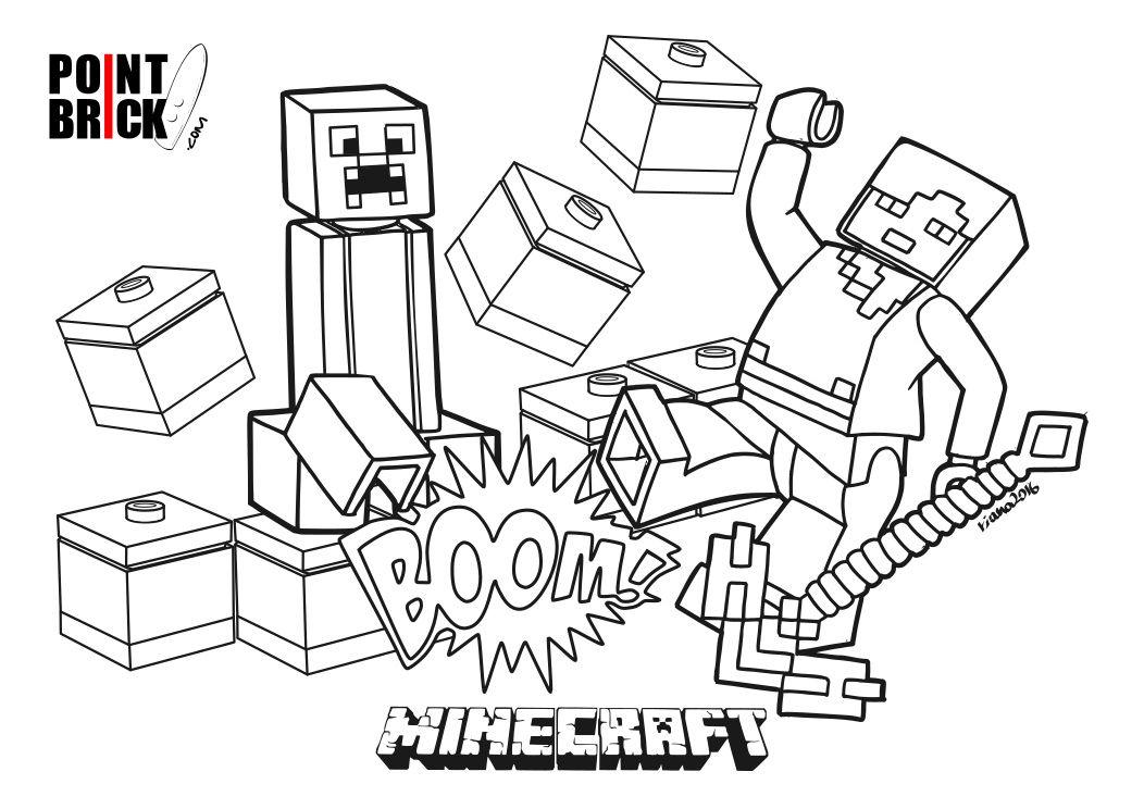 1052x744 Disegni Da Colorare Lego Minecraft Steve E Alex Lego Minecraft