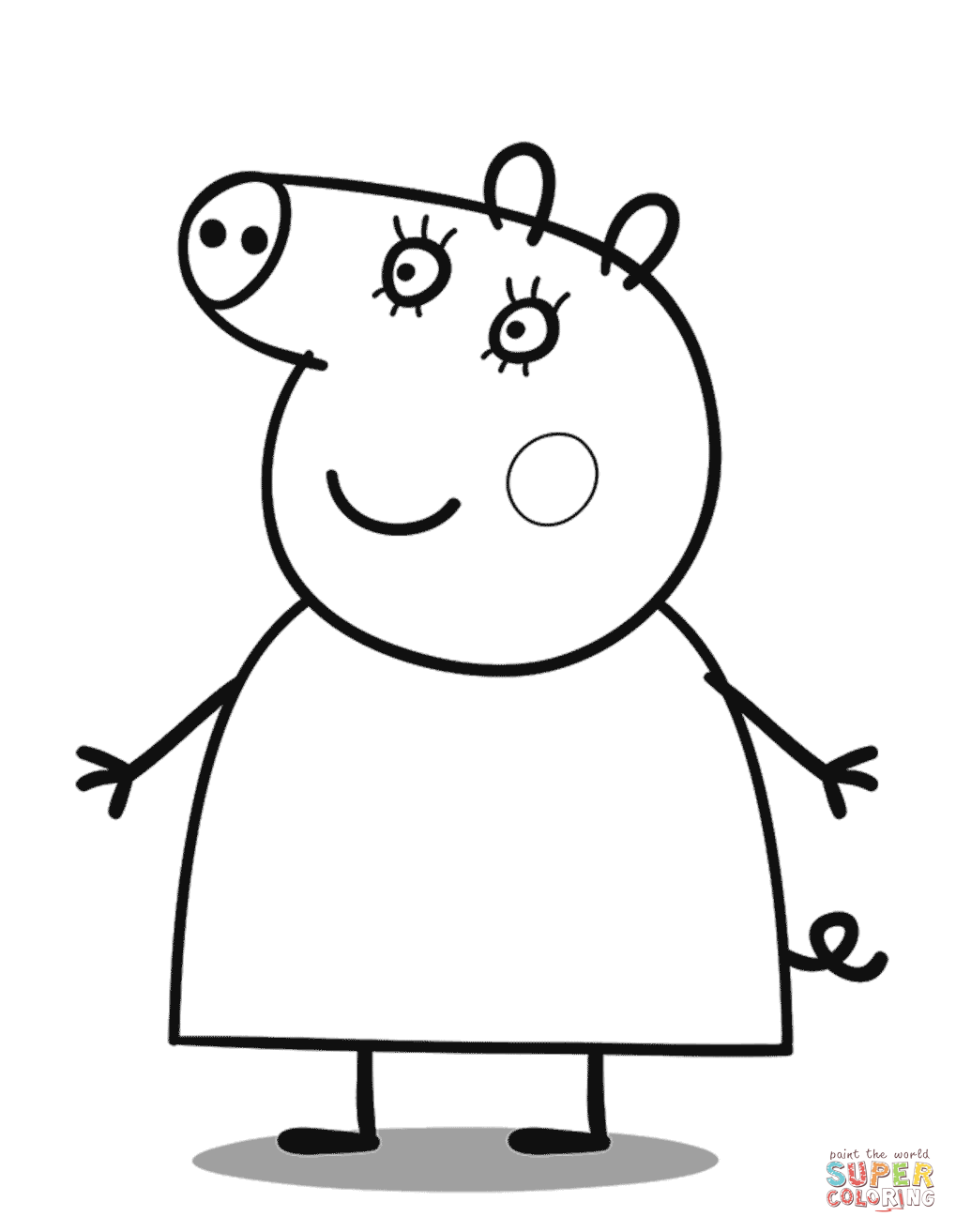 1019x1313 Pig In The Mud Coloring Pages Online Animals Teacup Page Animal