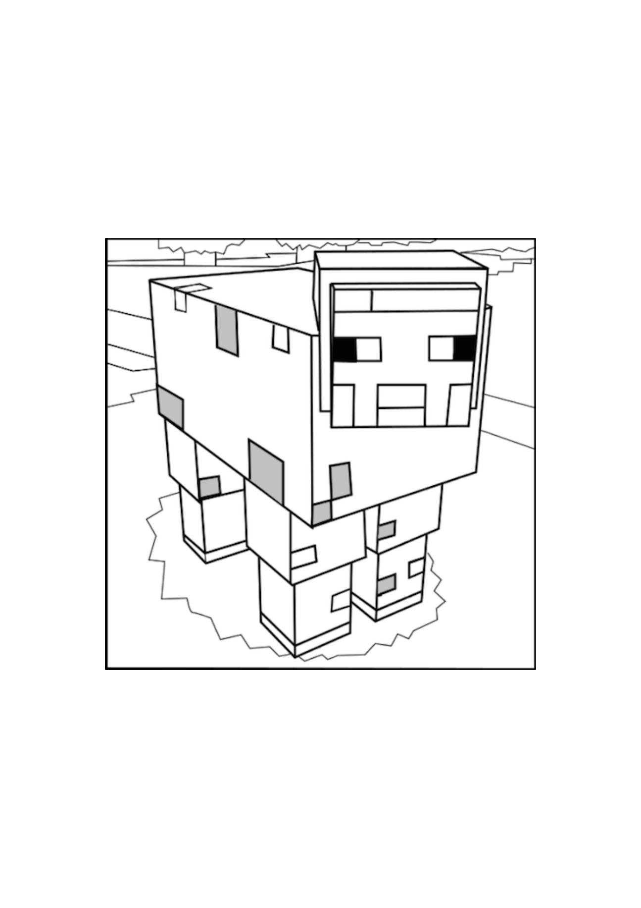 Minecraft Sheep Coloring Pages At Getdrawings Com Free For