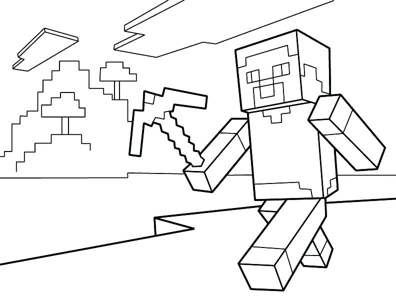 792x612 Minecraft Color Pages Coloring Pages Coloring Pages For Kids