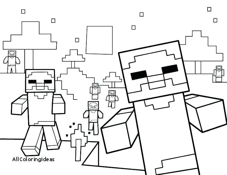 736x568 Minecraft Color Pages Download This Coloring Page Minecraft
