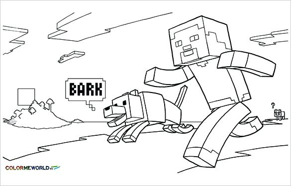585x374 Minecraft Color Pages Stylish Design Coloring Pages To Print