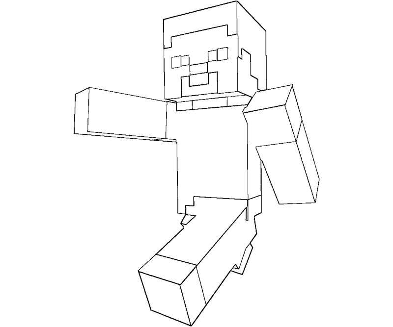 800x667 Minecraft Coloring Pages