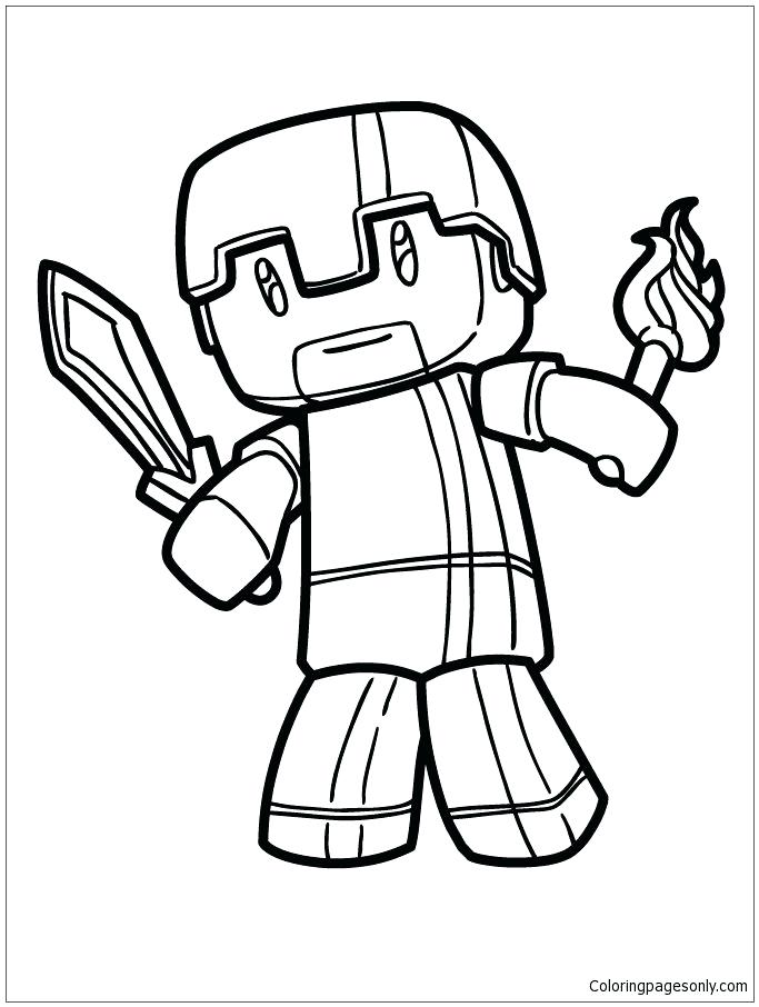 The Best Free Herobrine Coloring Page Images Download From 88 Free
