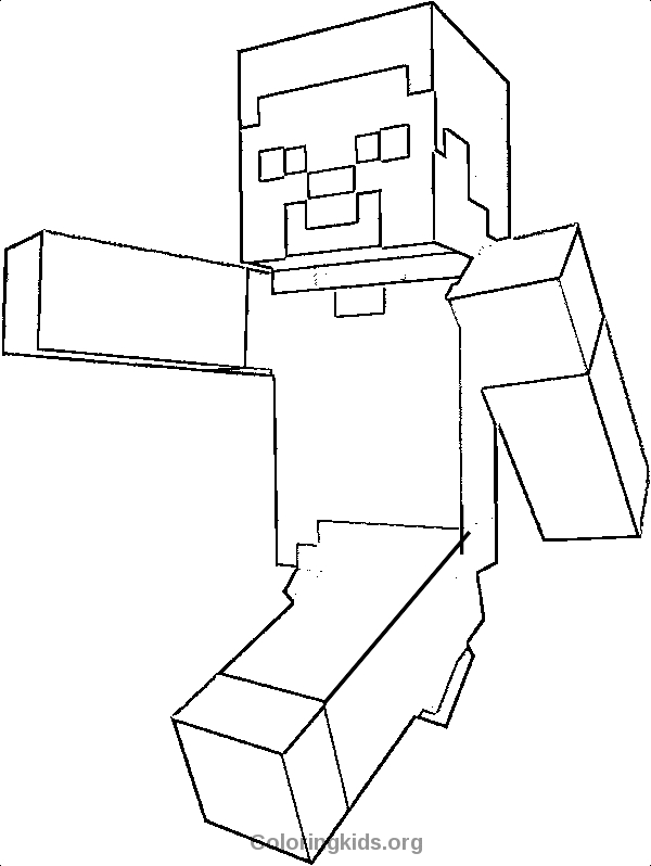 600x798 Minecraft Steve Coloring Pages Selection Free Coloring Pages
