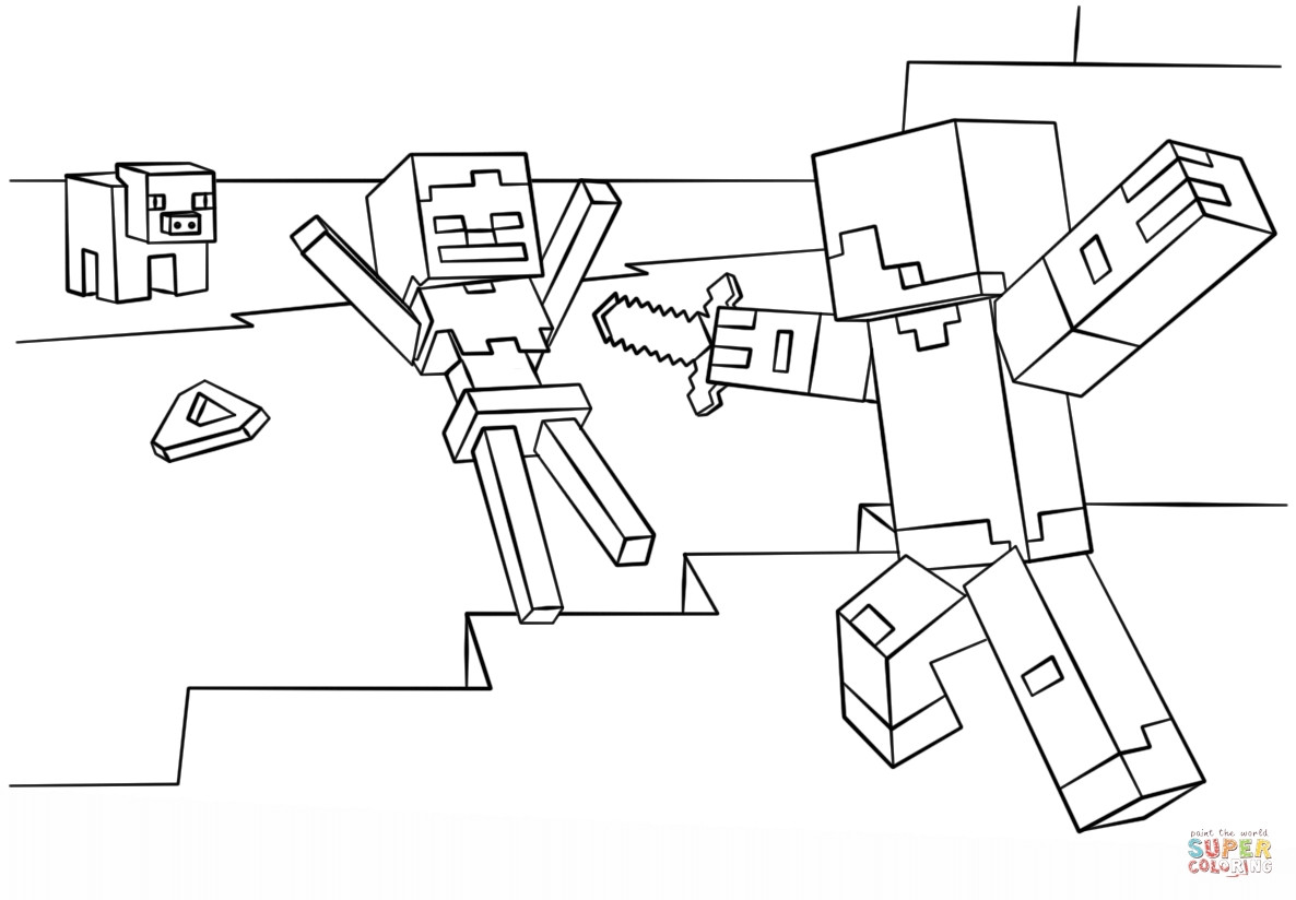 1186x824 Minecraft Steve Coloring Pages Home Diamond Armor