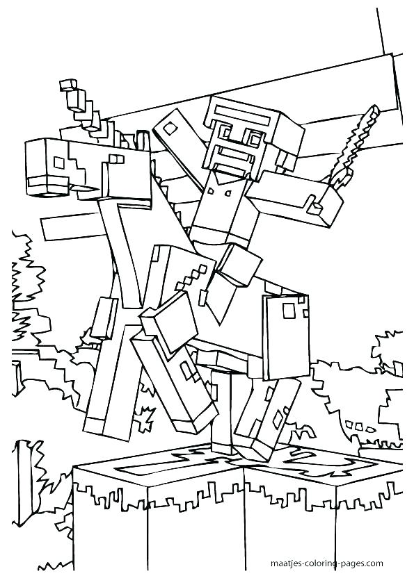 595x842 Coloring Pages For Minecraft