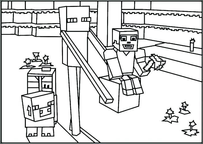 703x500 Minecraft Coloring Pages To Print