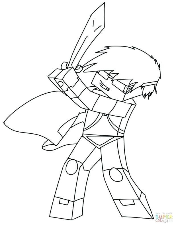 618x793 Free Printable Coloring Pages Minecraft Creeper Steve To Print