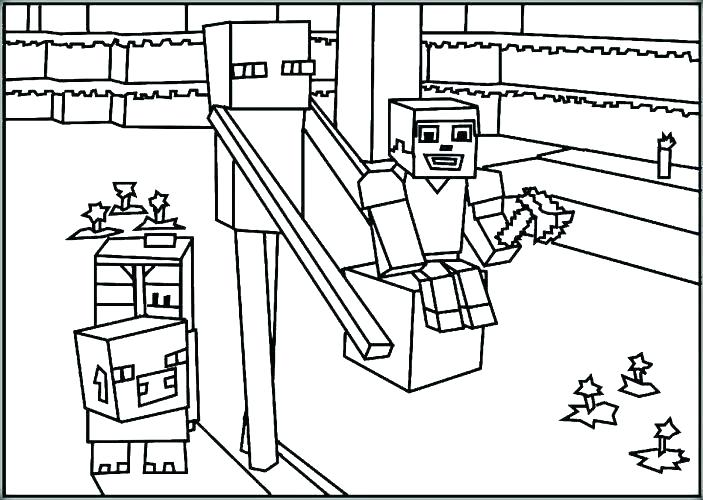 703x500 Minecraft Coloring Pages Herobrine Printable Coloring Pages