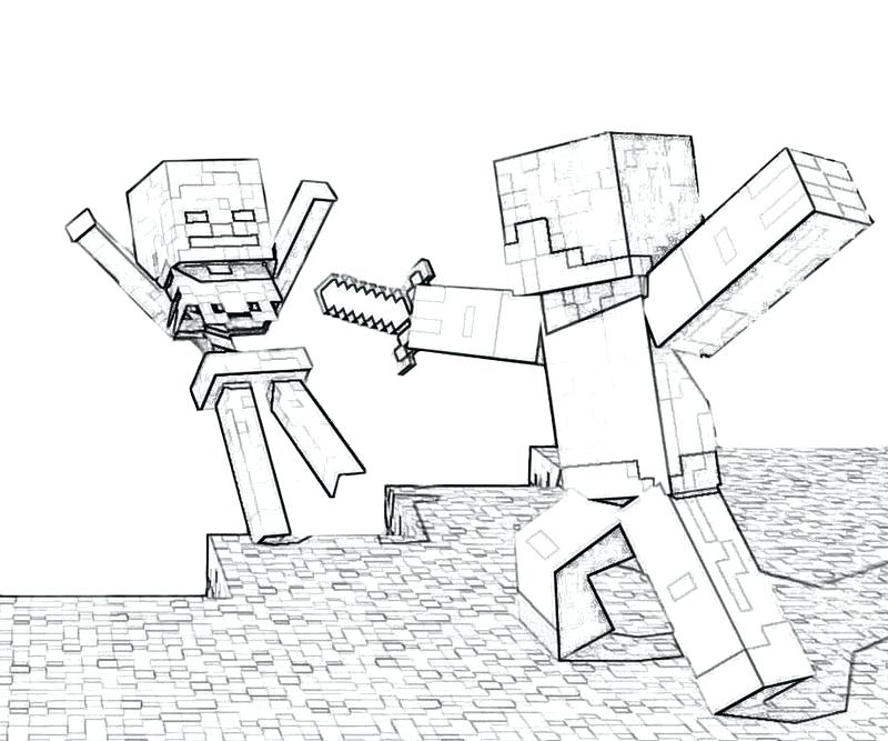800x667 Minecraft Coloring Pages Printable Coloring Zombie Minecraft Steve