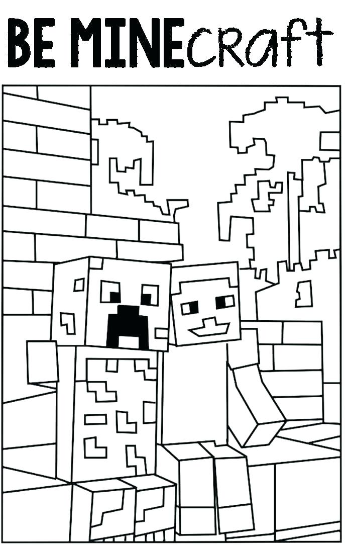 687x1084 Minecraft Coloring Pages To Print Top Printable Coloring Pages