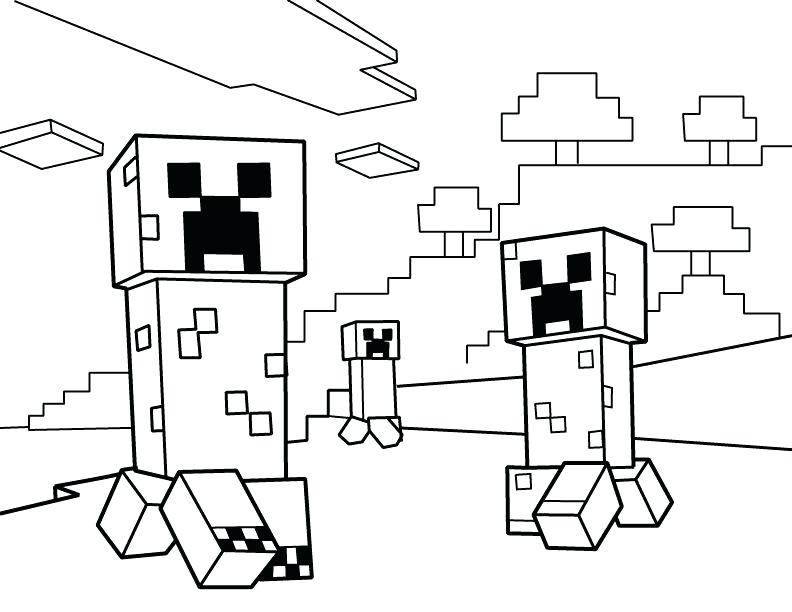 792x612 Minecraft Printable Coloring Pages Creepers Printable Coloring