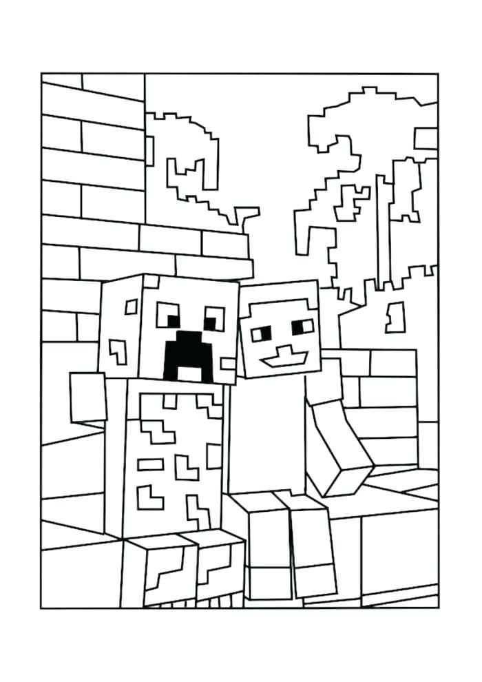 700x990 Minecraft Steve Coloring Pages Printable Printable Coloring Pages