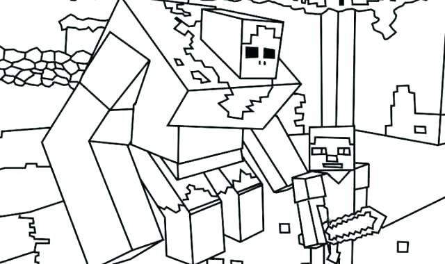 640x380 Minecraft Steve Coloring Pages To Print Beautiful Printable Free