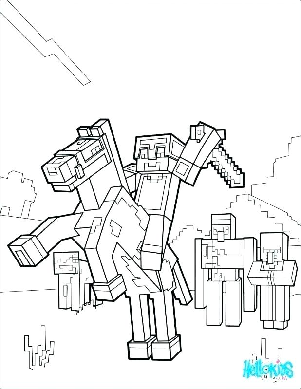 618x799 Printable Minecraft Coloring Pages Coloring Pages For Kids