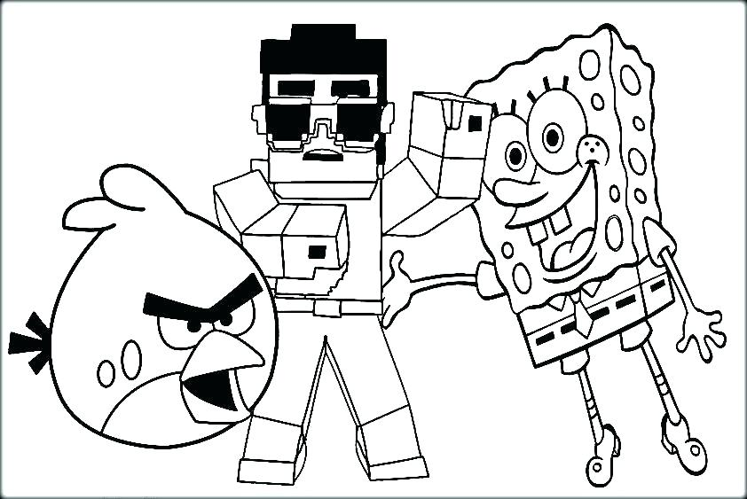 842x563 Minecraft Coloring Pages To Print