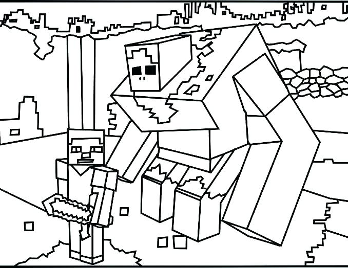 678x524 Minecraft Steve Coloring Pages To Print
