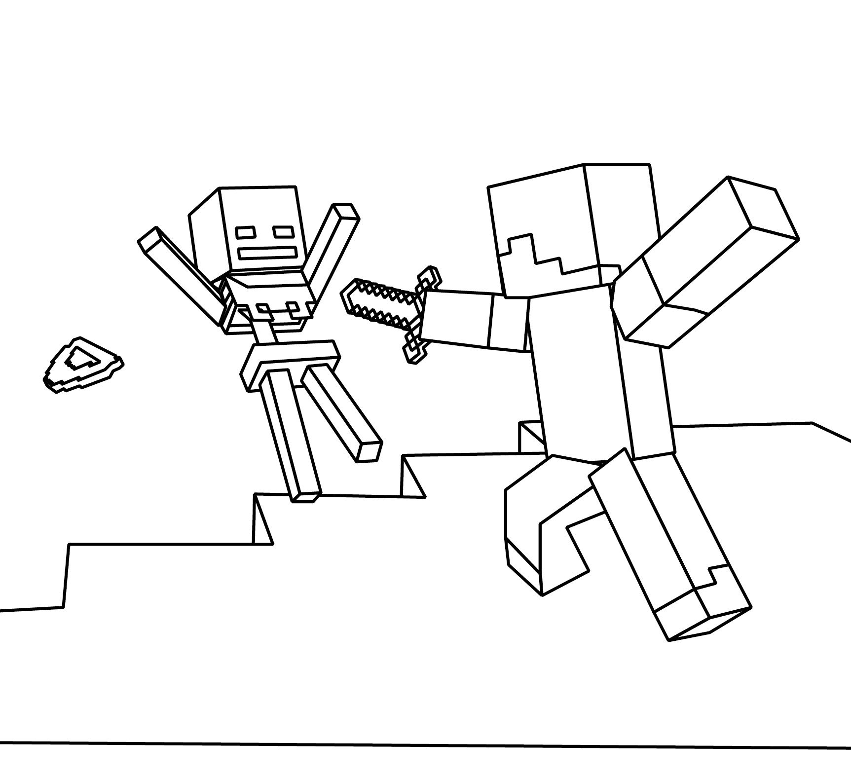 1725x1575 Minecraft Coloring Page