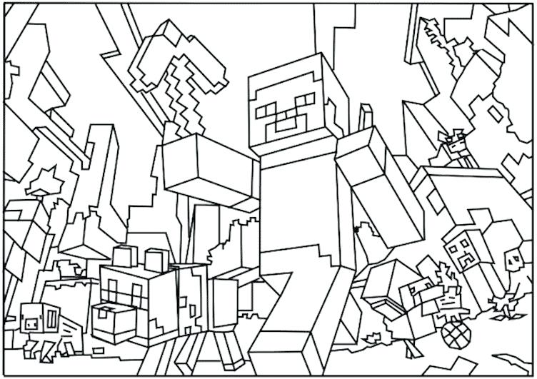 752x531 Minecraft Coloring Pages Coloring Pages To Print Print Free