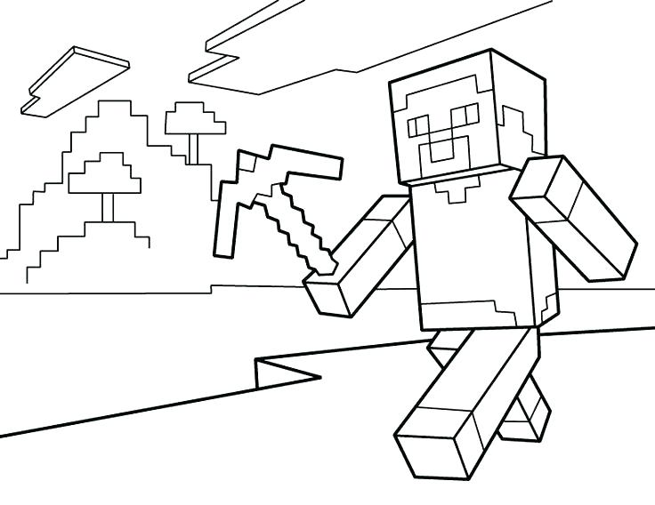 Minecraft Sword Coloring Pages At Getdrawings Com Free For
