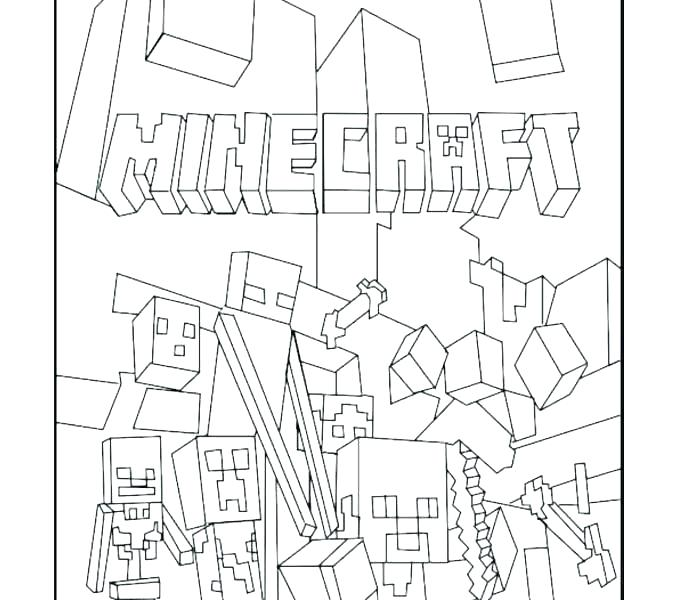 678x600 Minecraft Coloring Pages Color Sheets Free Color Pages Free Online