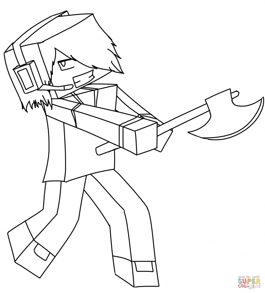 869x962 Minecraft Coloring Pages Free Cartoon Deadlox