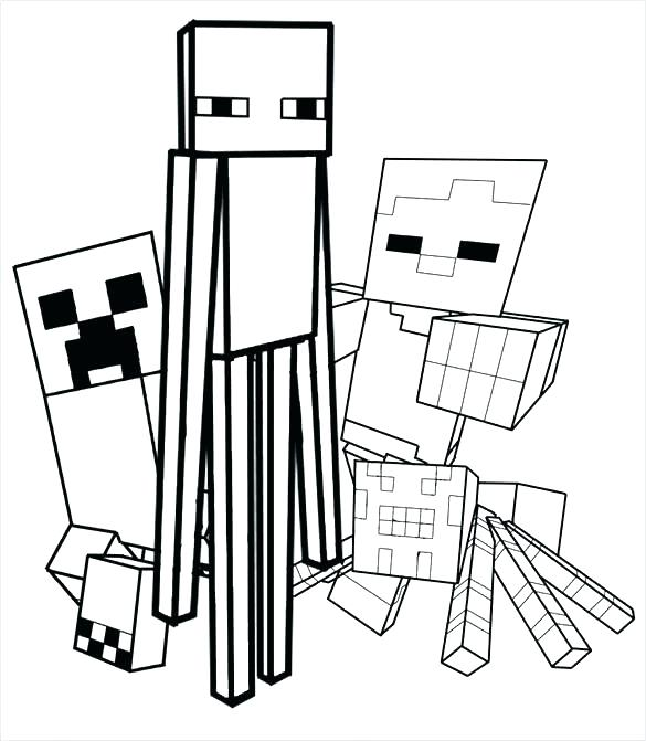 585x671 Minecraft Coloring Pages Printable Pictures Fan Picture Minecraft