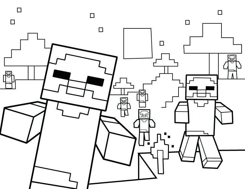 792x612 Minecraft Coloring Pages Zombies Minecraft Zombie Villager